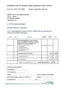 Bild von dem Bestellformular PDF