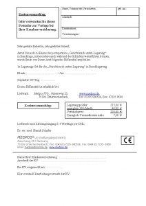 Bild von der Kostenvoranschlags PDF